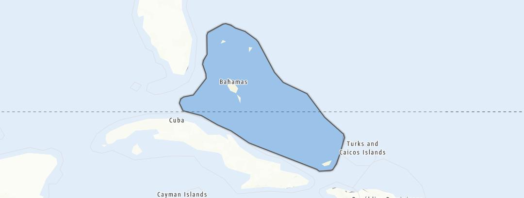 Karte / Bahamas