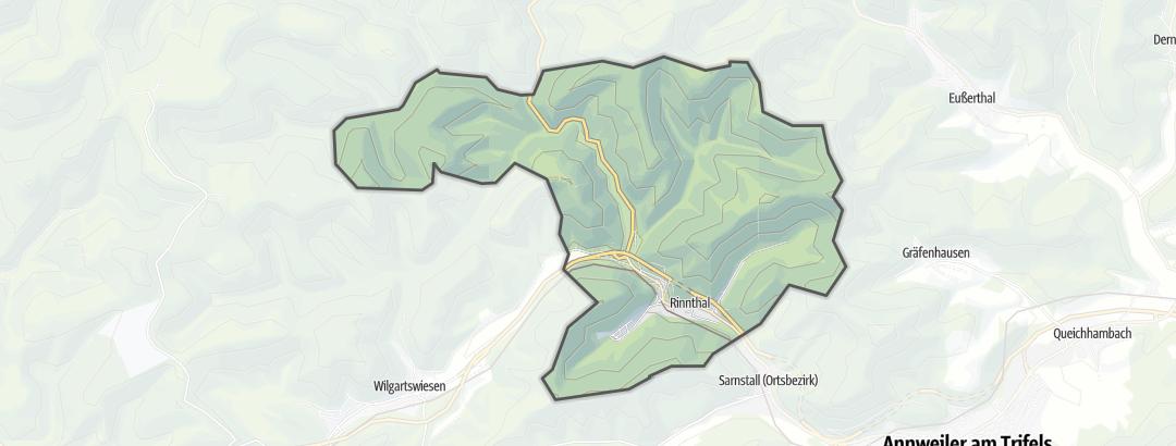 Karte / Wanderungen in Rinnthal