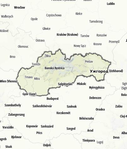 Karte / Slowakei
