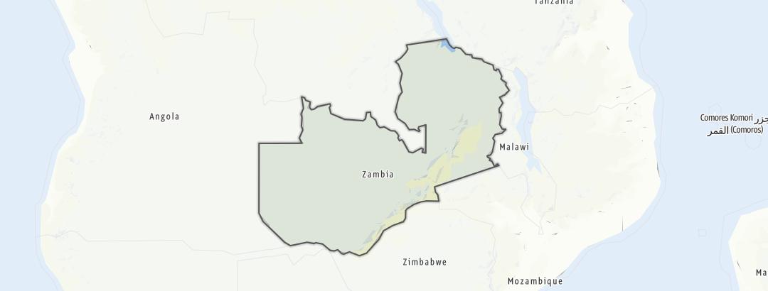 Karte / Sambia