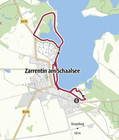 Karte / Entdecke die Biosphäre Schaalsee. Vom »Ort des Schwarzen« zur »Himmelpforte«
