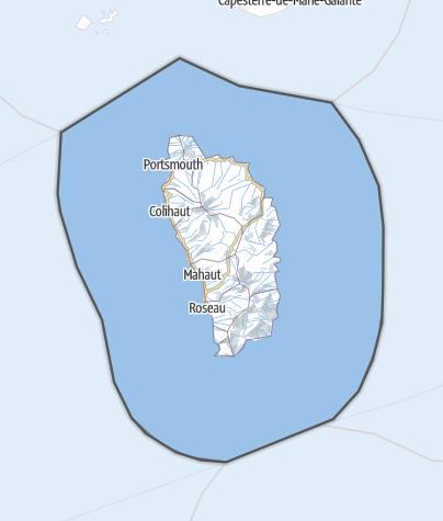 Karte / Dominica