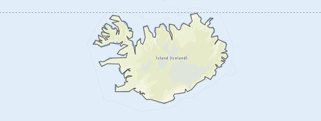 Karte / Wanderungen in Island