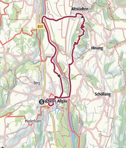 Karte / Malerwinkel - Schöne Aussicht - Altstädten - Fischen
