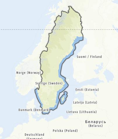 Karte / Schweden