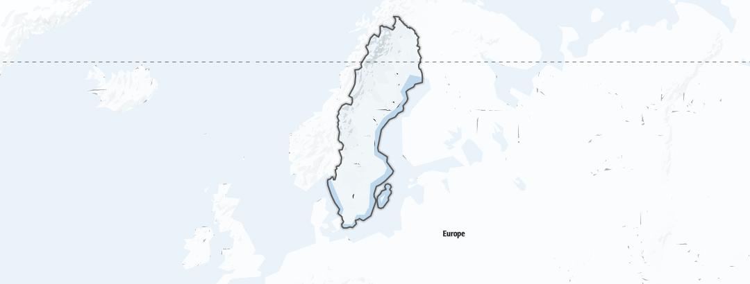 Carte / Sports d'hiver - Suède