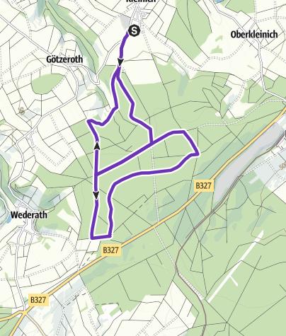 Karte / Pfingstkronenlauf in Kleinich - 10 km