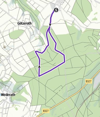 Karte / Pfingstkronenlauf in Kleinich - 5 km