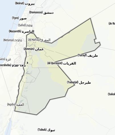 Karte / Jordanien