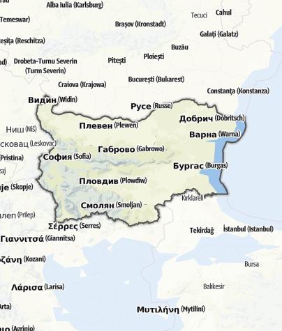 Karte / Bulgarien