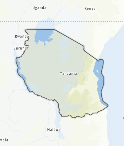 Karte / Tansania