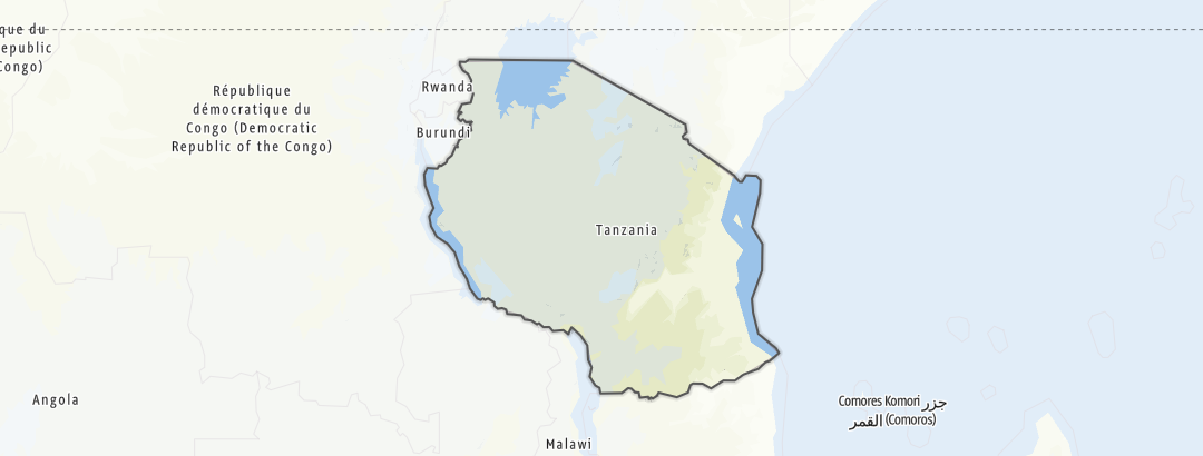 Mapa / Trilhas Alpinas em Tanzânia