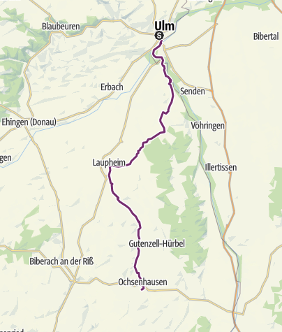 Map / Upper Swabia-Allgäu Route - 1st leg