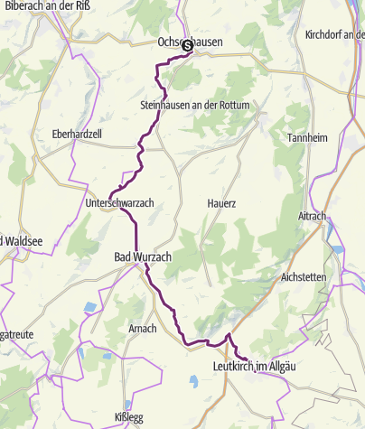 Map / Upper Swabia-Allgäu Route - 2nd leg
