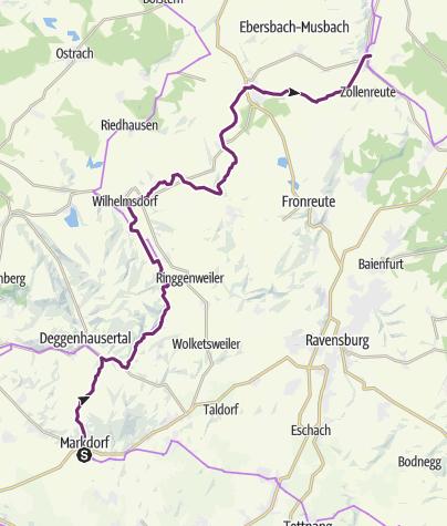 Map / Upper Swabia-Allgäu Route - 5th leg