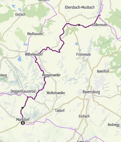 Map / Upper Swabia-Allgäu Route - 5th leg