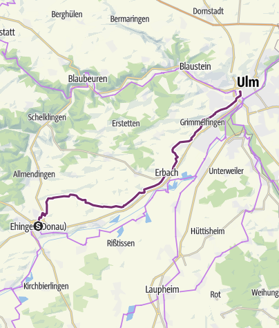 Map / Upper Swabia-Allgäu Route - 8th leg