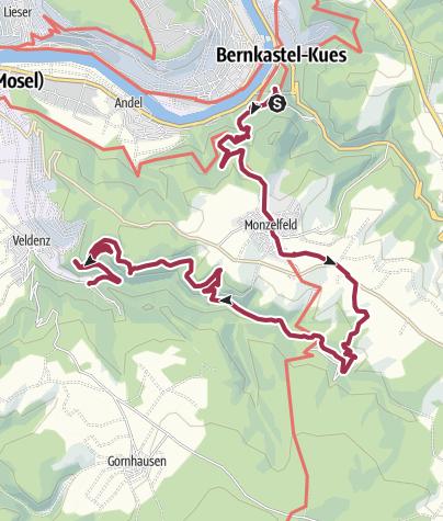 Karte / Von Bernkastel zu den Grafschafter Felsen
