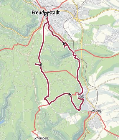 Karte / Ein Wandermärchen von Türmen, Hütten und Tannen bei Freudenstadt