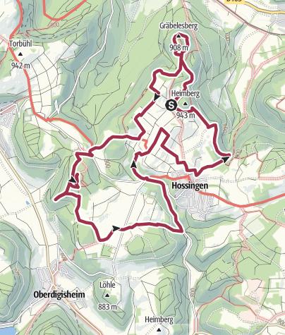 Karte / HochAlbPfad Hossinger Hochalb