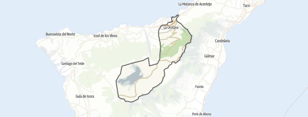 Mapa / Pochody v oblasti La Orotava