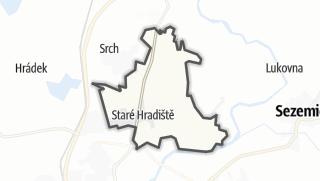 Karte / Staré Hradiště