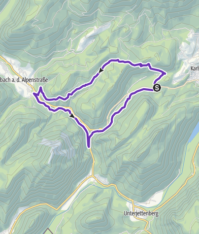 Karte / Thumsee-Höllenbachalm.Weißbach-Weißbachschlucht-Thumsee