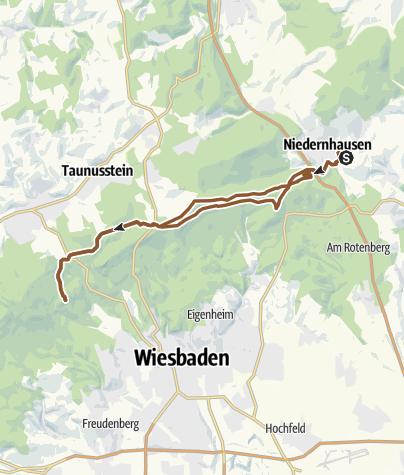 Karte / SBT Niedernhausen Schläferskopf über die Platte und zurück