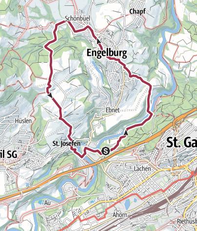 Karte / Ochsenwaid - Engelburg - Spisegg