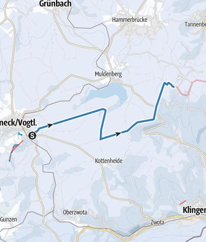 Map / Kammloipe Start Schöneck