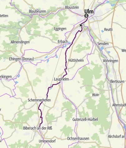 Map / Danube-Lake Constance Route - 1st leg