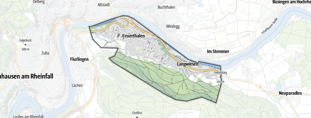 Hartă / Drumeții in Feuerthalen