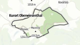 מפה / Loucná pod Klínovcem