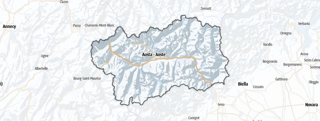 Mapa / Esportes de Inverno em Valle d'Aosta
