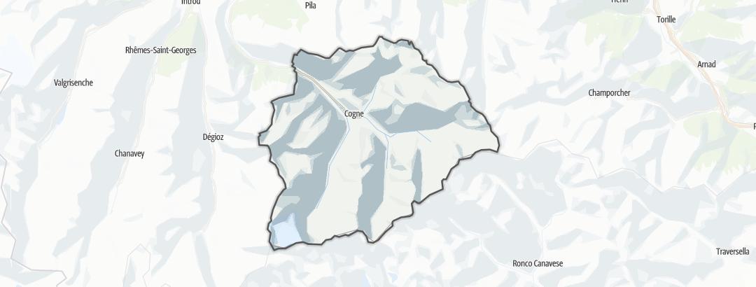 Hartă / Drumeții montane in Cogne