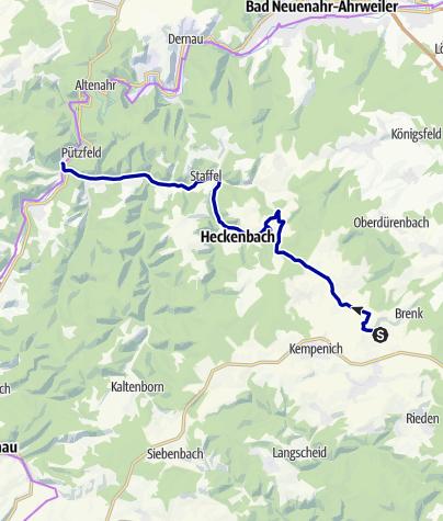 Karte / Vom Bahnhof Engeln durch das Kesselinger Tal zum Bahnhof Ahrbrück