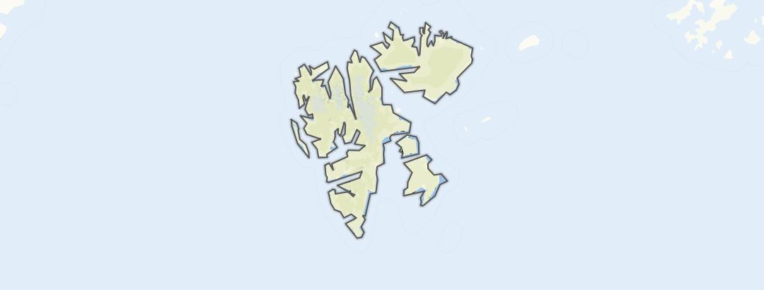 Mapa / Rotas em Esvalbarde