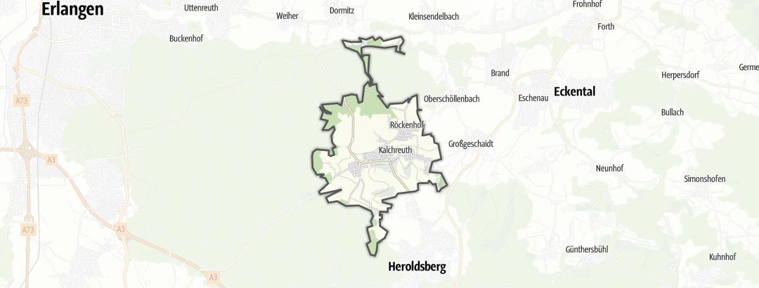 Karte / Wanderungen in Kalchreuth