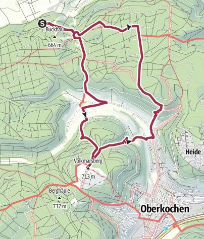 Karte / Aalen - Volkmarsberg - Albäumle