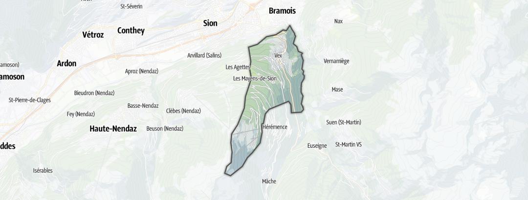 Térkép / Túrázás,  Vex területén