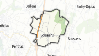 Карта / Bournens