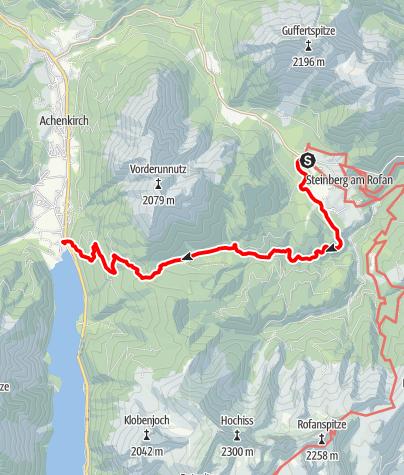 Karte / Von Steinberg am Rofan nach Achenkirch, Fischerwirt