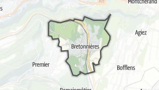 Карта / Bretonnières