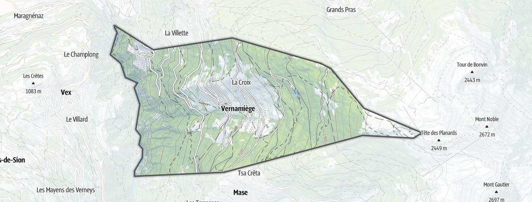 Térkép / Túrázás,  Vernamiège területén