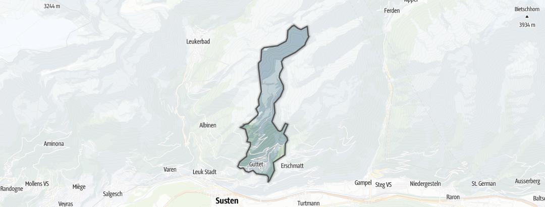 Mappa / Mountain bike a Guttet-Feschel