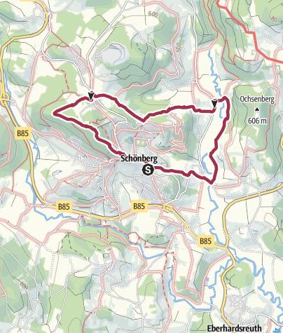 Karte / Zum Bieber auf dem Höhenweg zur Gipfeleinkehr