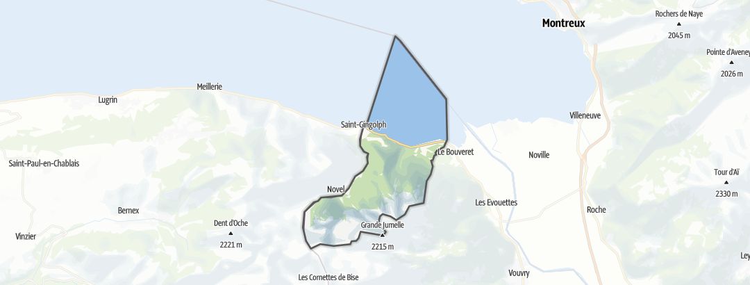 Mapa / Rutas de trekking en Saint-Gingolph