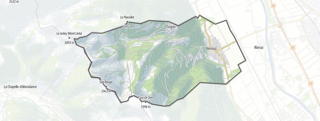 Térkép / Túrázás,  Vionnaz területén