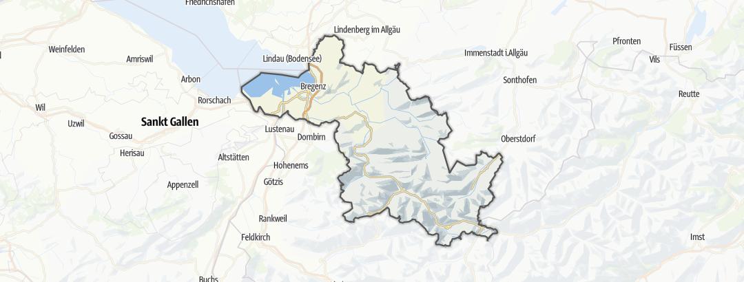 Térkép / Hegymászás,  Bregenz területén