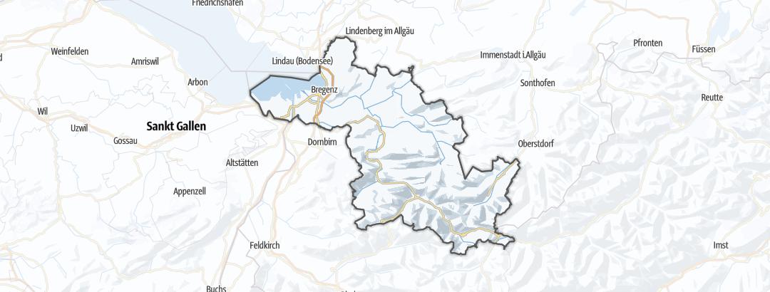 Karte / Schneeschuhwanderungen in Bregenz